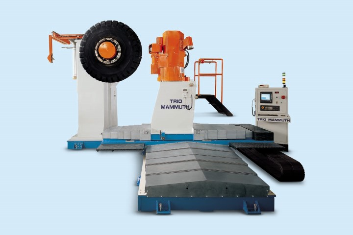 Eagle Mammuth | OTR tire retreading buffing machine | Marangoni